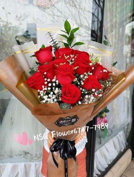 Bouquet rosas roja