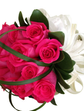 Ramo de Novia rosas fuscia