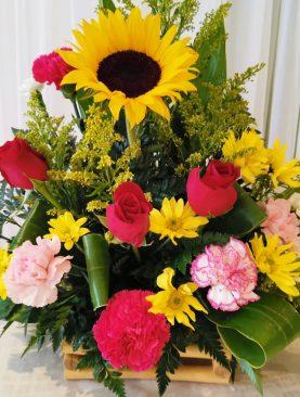 Arreglo Girasol con flores primavera