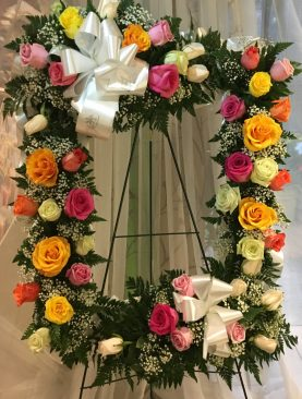 Corona en Rosas Surtida