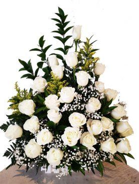 Arreglo Funeral Rosas Blanca