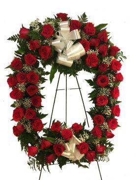 Corona Cuadrada en Rosas Roja