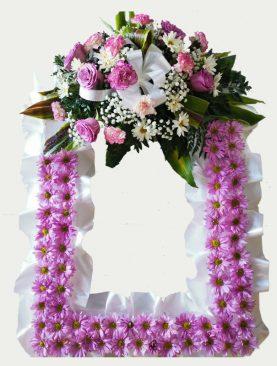 Corona cuadrada mediana color lila