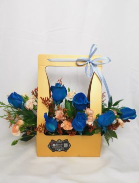 Basket Blue rose