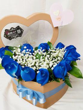 Corazón azul de amor