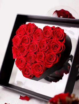 Rosas rojas Preservadas en caja deluxe