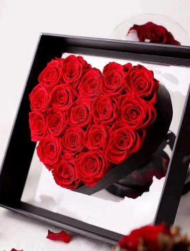 Rosa Preservada Caja Deluxe - Rosa Roja