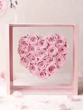 Rosas preservada caja deluxe - color rosado