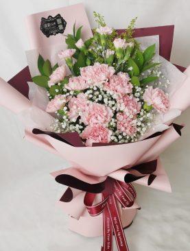 Ramo claveles rosado