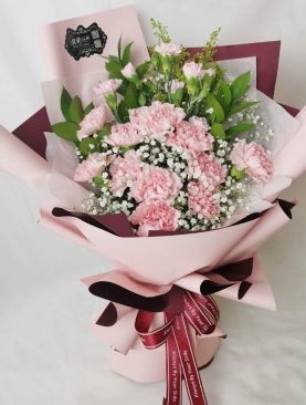 Ramo de claveles rosados