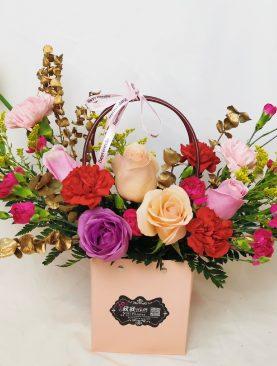 Middle flower basket
