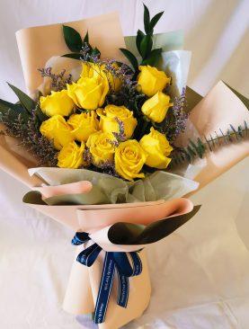 Ramo Rosas Amarilla