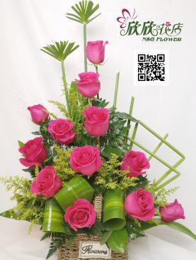 Arreglo Rosas Fuscia