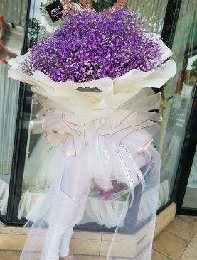 Ramo Gysofilia lila grande