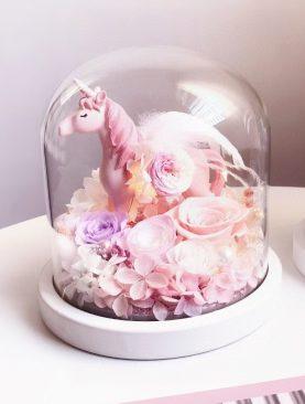Rosa Preservada unicornio rosado