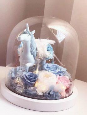 Rosa Preservada unicornio cleste