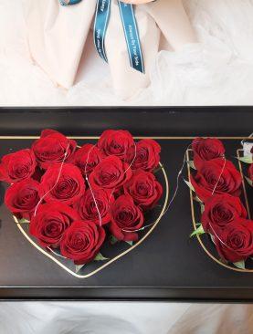 Deep Love 24 rosas roja