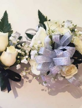 Corsage color blanco